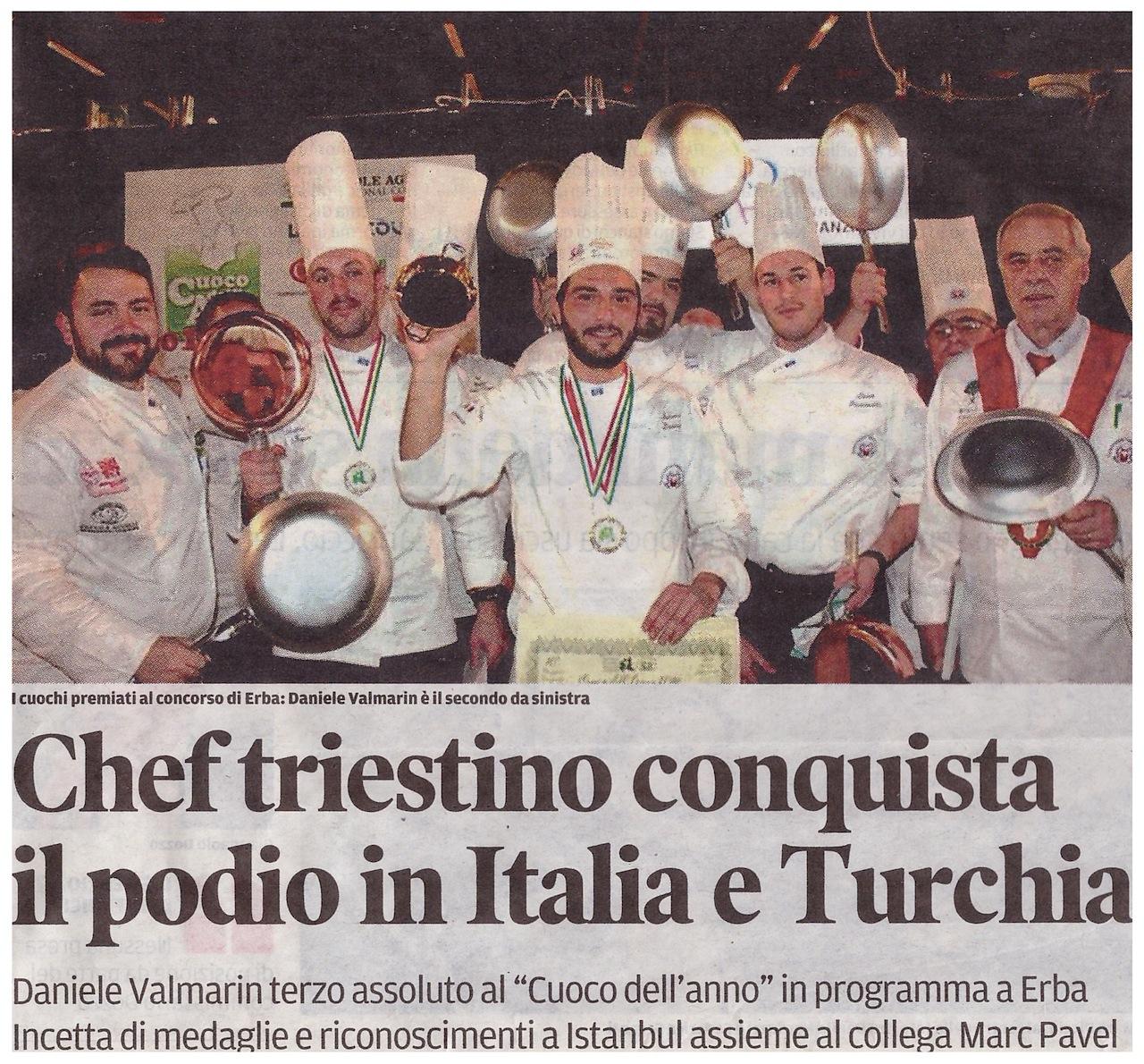 Da Istanbul a Erba: medaglie e riconoscimenti a due chef triestini